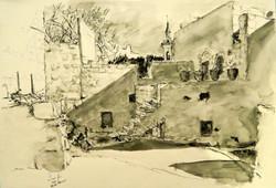 Ein Karem courtyard