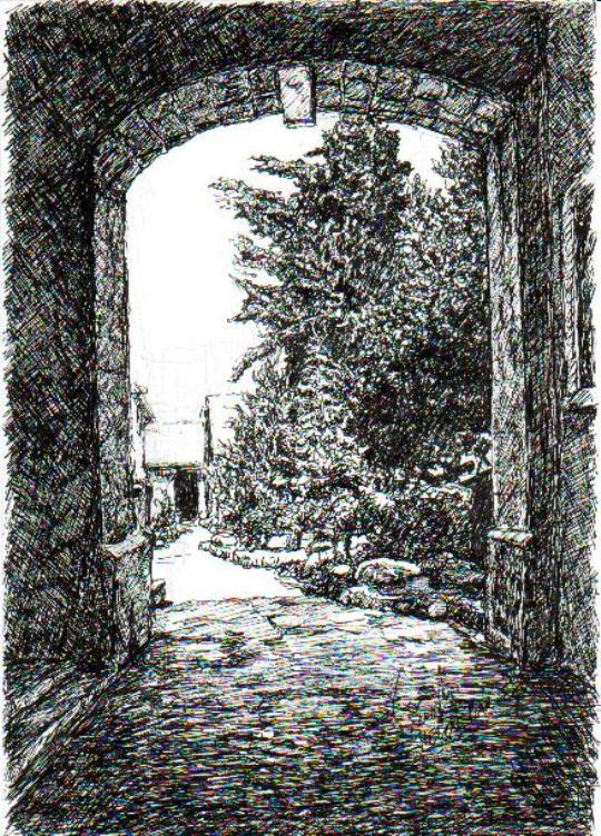 Entrance to Sergei Courtyard
