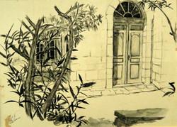 Doorway in Ein Karem