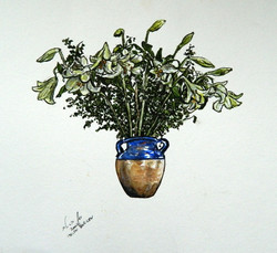 Lilies in vase 2002