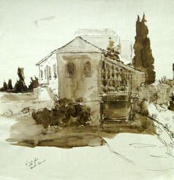 House near Jerusalem Old City wall