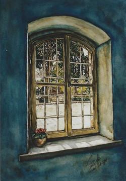 Window in Sergei courtyard