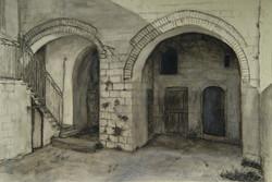 Courtyard Rabbi Kook house Jlm.