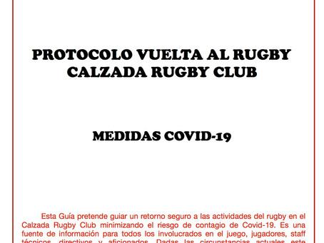 Protocolo Vuelta al Rugby Calzada Rugby Club