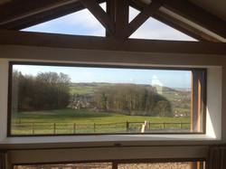 Mezzanine window - Grove Barn