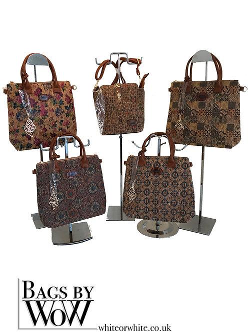 B0027 Cork Bag with shoulder strap attachments