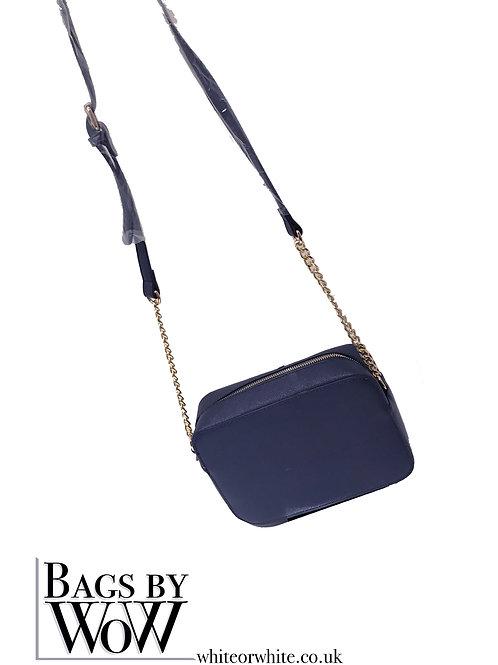 """B0025 """"Midnight""""  Shoulder Bag in Navy Blue or Black"""