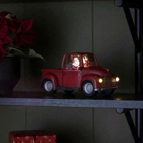 KS018 Santa in the red truck