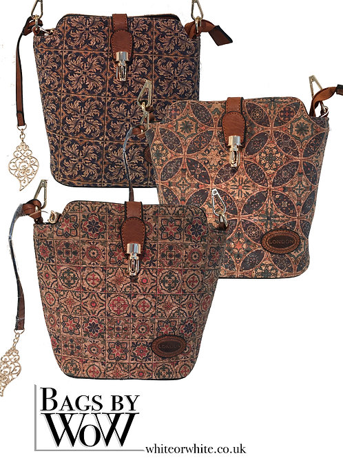 BN009a Cross Body Cork Bag