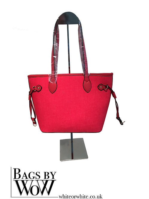 "BLS042b ""Calder"" Small Tote in Burnt Mustard or Strawberry Red"