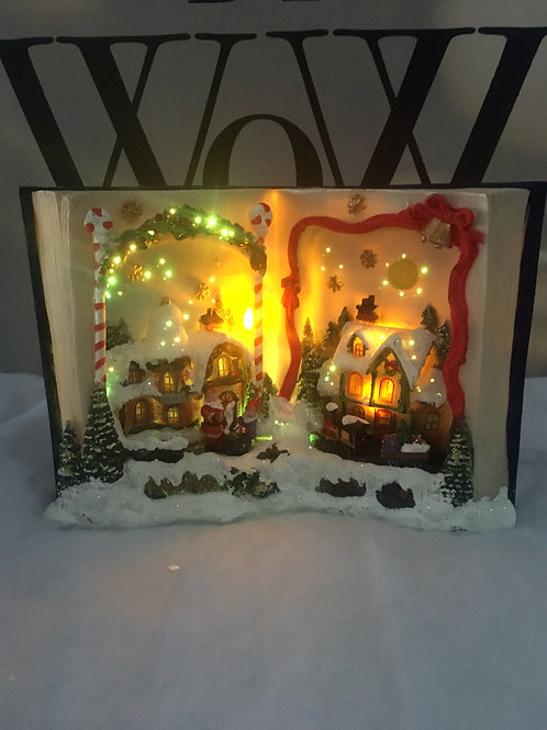 Light up Open Book Ornament