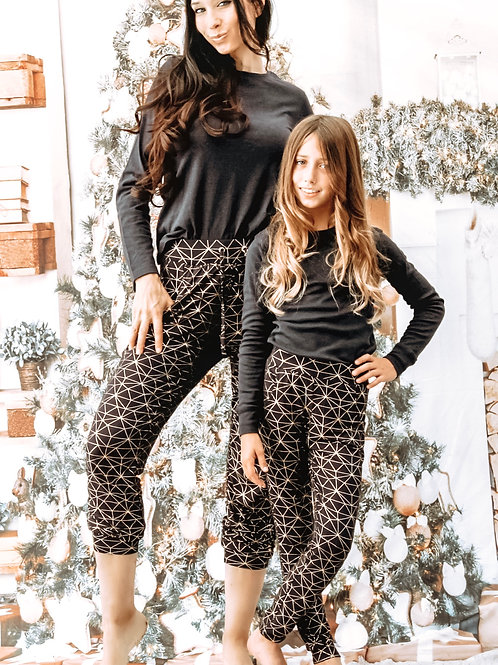 Adult Holiday Joggers with Foil Print