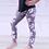 Thumbnail: Kids Gray Floral Leggings