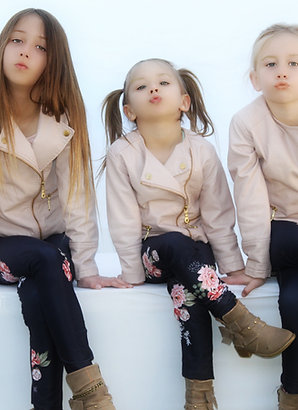 Kids Navy Floral Leggings