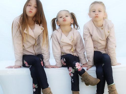 Kids Navy Floral Leggings