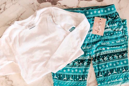 Kids Pajama Jogger Set- Shirt and Jogger Bottoms