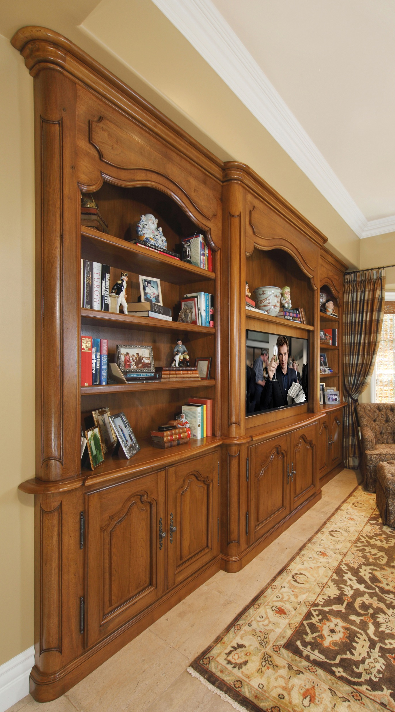 French bookcase side