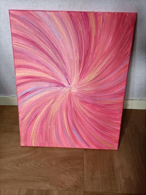 Peinture Rose Pastel