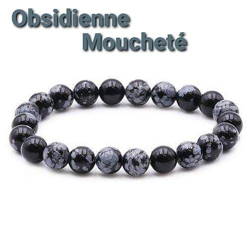 Bracelet Obsidienne Mouchetée