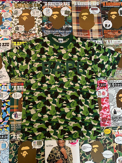 BAPE ABC GREEN CAMO TEE