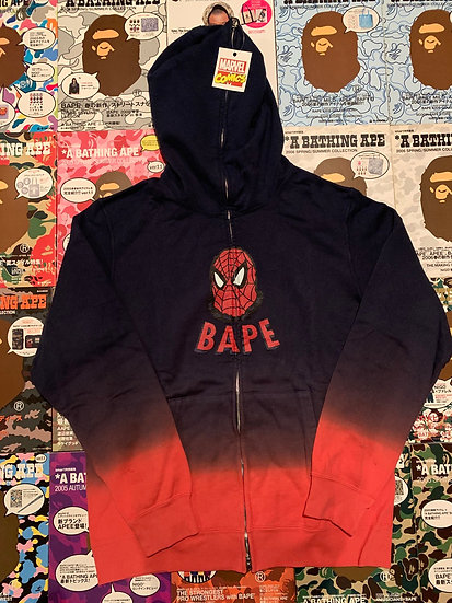 BAPE SPIDER MAN FULL ZIP