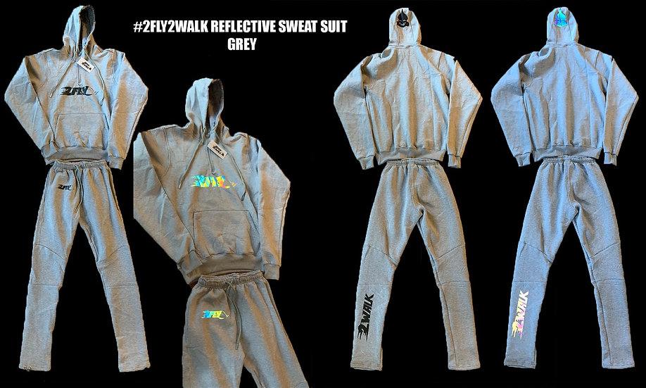 #2FLY2WALK REFLECTIVE SWEAT SUIT (GREY)