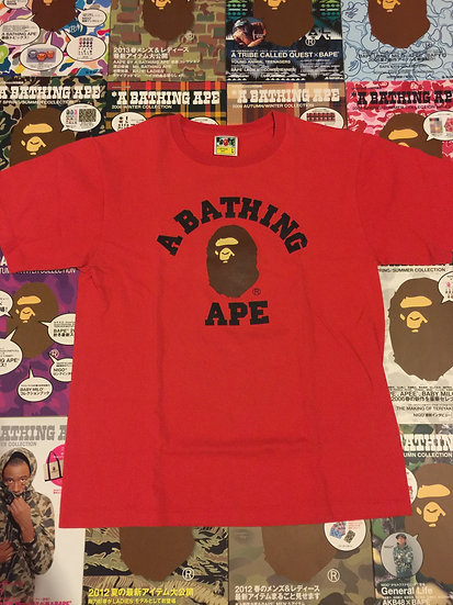 BAPE COLLEGE TEE (RED)