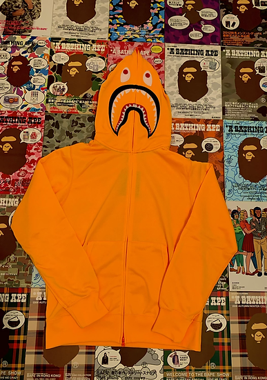 BAPE SHARK NEON ORANGE