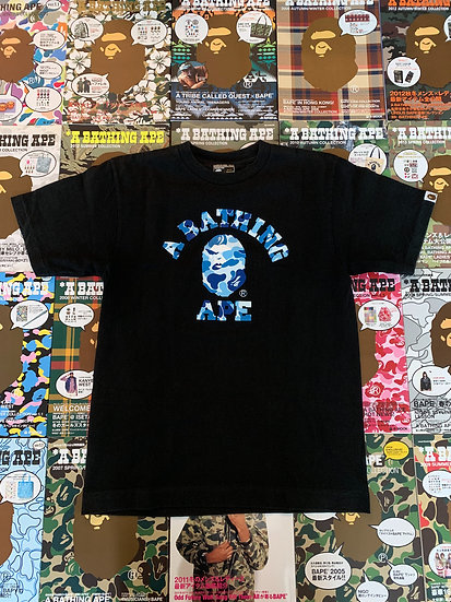 BAPE BLUE CAMO ABC COLLEGE TEE