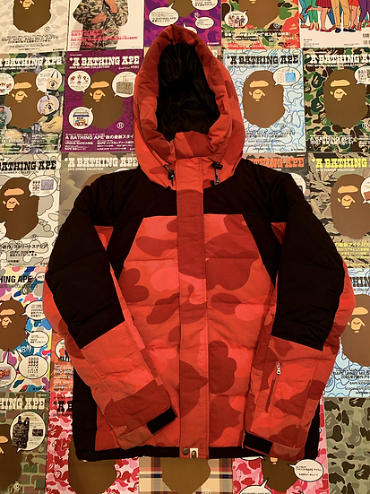 BAPE RED CAMO DOWN