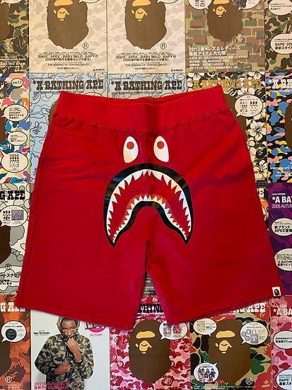 BAPE SHARK SHORTS 2XL (RED)