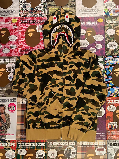 BAPE PONR SHARK FULL ZIP