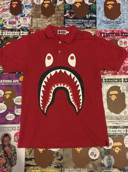 BAPE SHARK POLO (RED)
