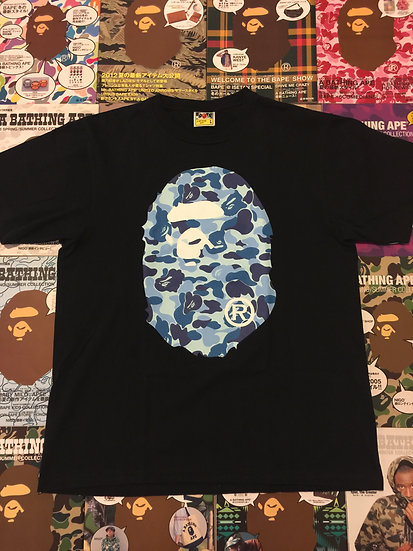 BAPE HEAD TEE (BLUE CAMO)
