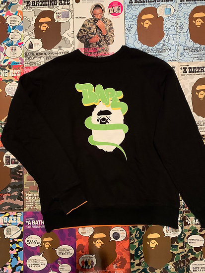 BAPE KAWS CREW NECK (REVERSIBLE)