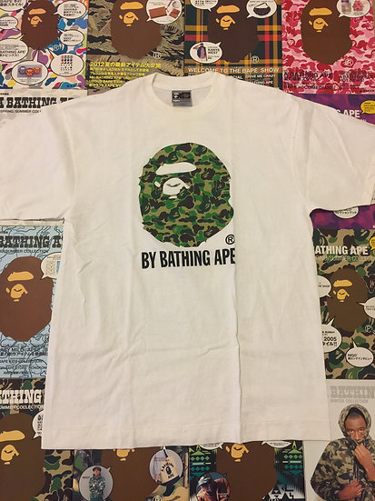 BAPE HEAD TEE (GREEN CAMO)