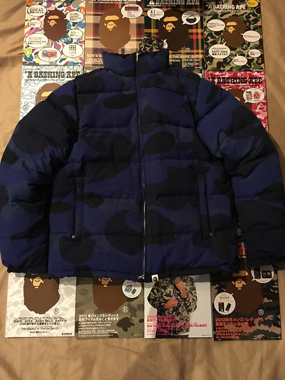 BAPE BLUE BUBBLE COAT