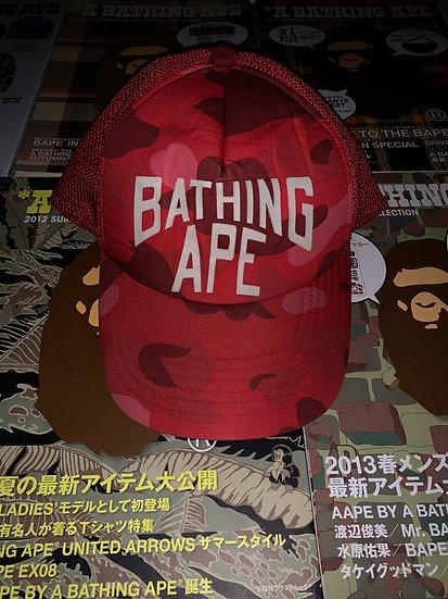 BAPE RED CAMO CAP