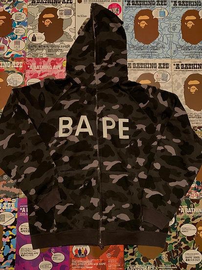 BAPE BLACK CAMO FULLZIP