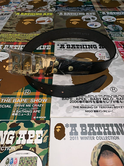 BAPE BELT BLACK/GOLD