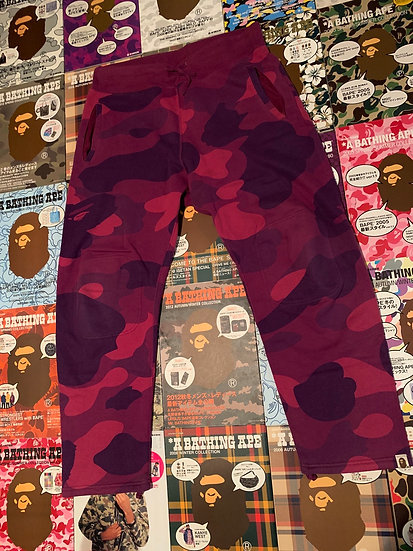 BAPE PURPLE CAMO SWEAT PANTS