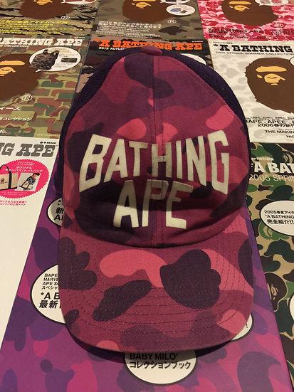 BAPE PURPLE CAMO CAP