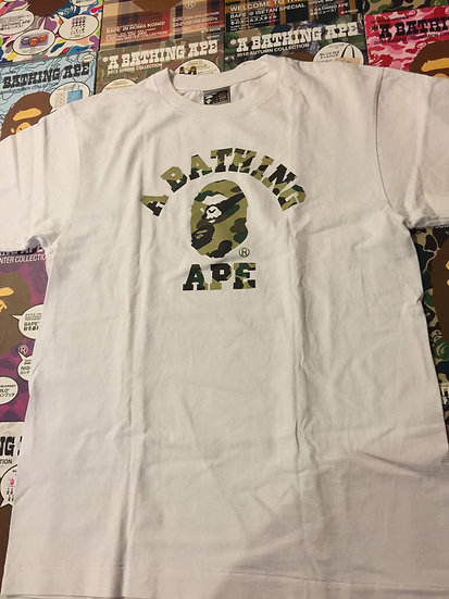 BAPE ANGRY FACE COLLEGE TEE