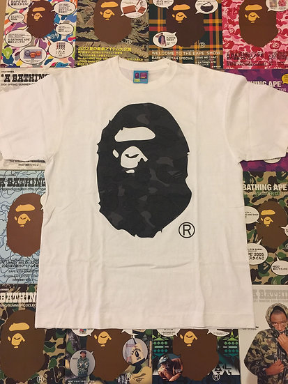 BAPE HEAD TEE (BLACK CAMO)