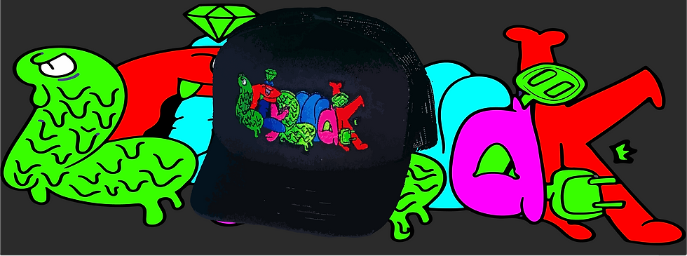 SLIMEHEAD TRUCKER CAP #2FLY2WALK