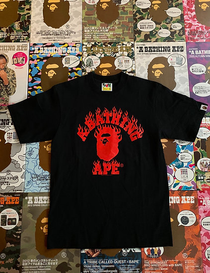 BAPE TEE FLAME COLLEGE
