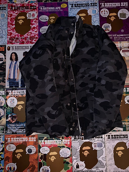 BAPE BLACK/WHITE CAMO REVERSE COAT