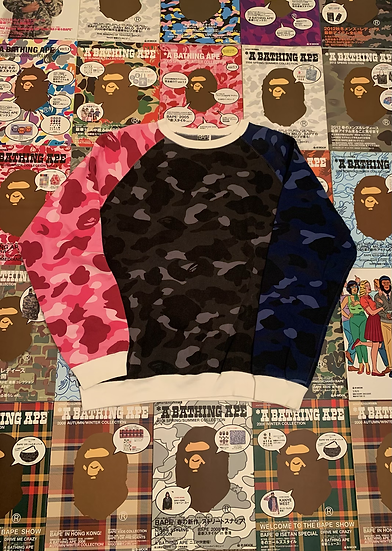 BAPE CAMO CREWNECK (Pink,Black,Blue)