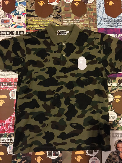 BAPE GREEN CAMO POLO