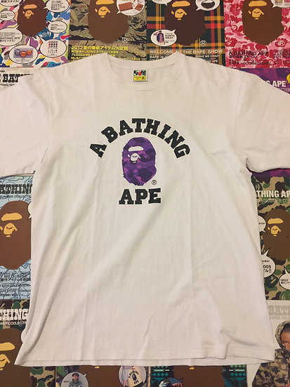 BAPE COLLEGE TEE (PURPLE CAMO)